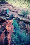 Rock Climbing Photo: Me and the lady went on a hike with our dogs to ta...