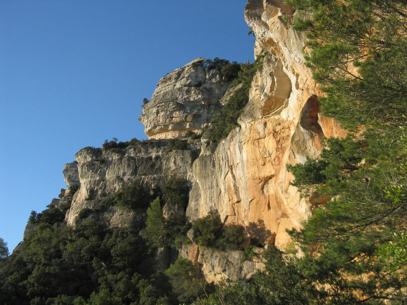 The cliffs in the Antenes area.