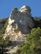 Rock Climbing Photo: Covallonga (the route) climbs the middle of the fa...