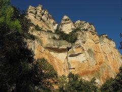 Rock Climbing Photo: Late afternoon sun on Taronja.