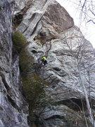 Rock Climbing Photo: Frost on the steep start