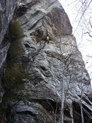 Rock Climbing Photo: In the pumpy roof traverse...