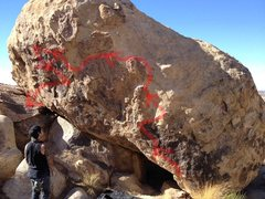 Rock Climbing Photo: beta project route... would guestimate about v3-4 ...