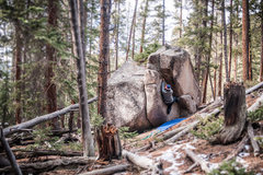 Rock Climbing Photo: Trail Boulder.