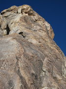 Rock Climbing Photo: Close-up of the third pitch. After traversing left...