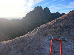 Rock Climbing Photo: SS rap ring anchors ~ 1/2 way down summit south ra...