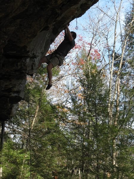 "Rock Climbing Photo: Hanging out on ""Alzheimer's Onsight""."