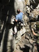 "Rock Climbing Photo: Scott is double-digiting ""Double Feature&quot..."