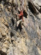 "Rock Climbing Photo: Looking not-so-cool on ""Huecool Junior""."