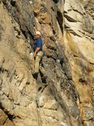 "Rock Climbing Photo: Bardenhagen with his finger in the dike on ""D..."