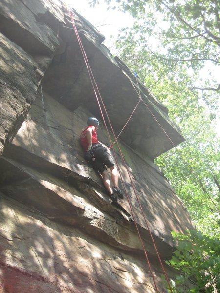 Tall climber on Air Show