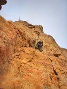 Rock Climbing Photo: Part way up.