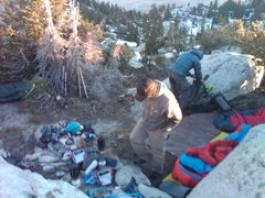 Rock Climbing Photo: getting ready for a cold night .