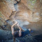 Rock Climbing Photo: The Cave Problem - V6