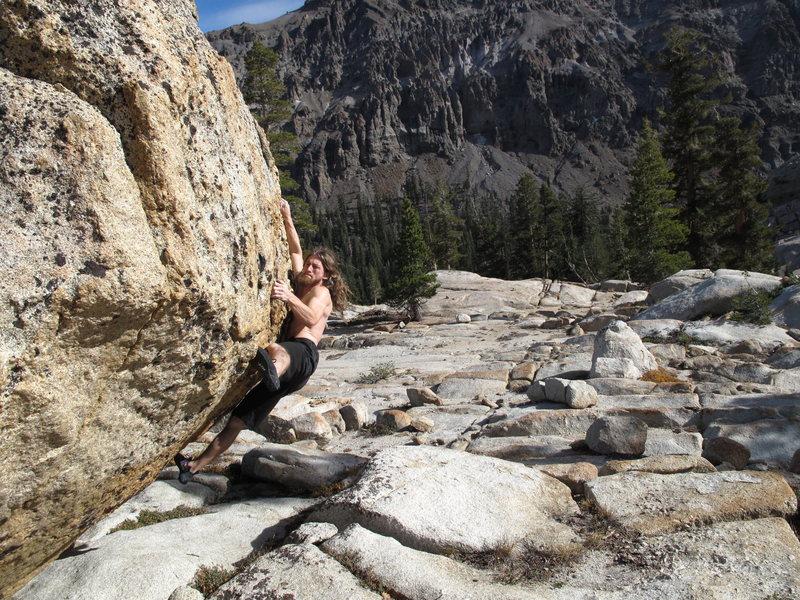 Rock Climbing Photo: Eggshell Bomb - V4 - FA