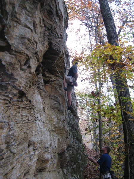 "Rock Climbing Photo: Starting up ""I'll Take Sue""."