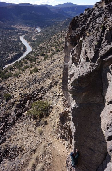 """Rock Climbing Photo: """"Paul's Boutique"""" with a sweet view in t..."""