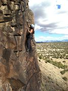 "Rock Climbing Photo: Sue on ""Post Moderate""."