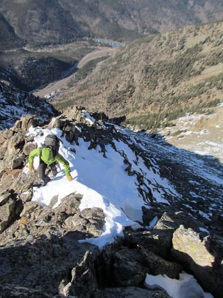 Rock Climbing Photo: Near the summit of Peak 4 on some nice 3rd class t...