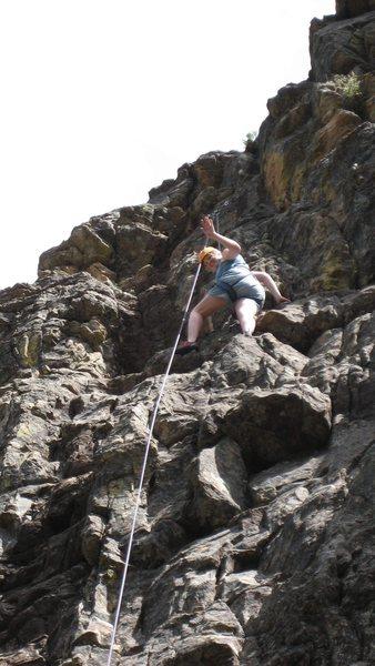 Rock Climbing Photo: Chelly at Comales Canyon.