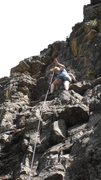 Rock Climbing Photo: Chelly at Comales Canyon.
