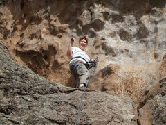 Rock Climbing Photo: Chelly at Las Conchas.