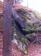 Rock Climbing Photo: The funky offwidth.