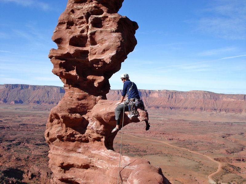 Rock Climbing Photo: The Diving Board!  Ancient Art.