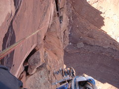 Rock Climbing Photo: North Face of Castleton Tower rapps.  11/24/12