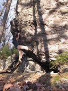 Rock Climbing Photo: Aaron James Parlier nearing the halfway point on t...