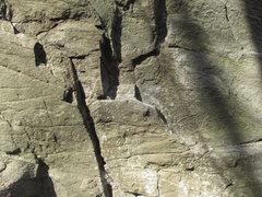"Rock Climbing Photo: Starting hold on ""Sweet Nothing"""