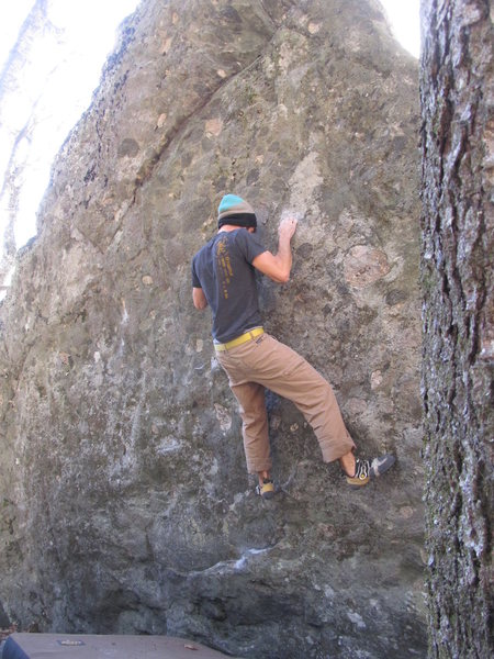 "Rock Climbing Photo: Aaron James Parlier on the FA of ""Wild Wood&q..."