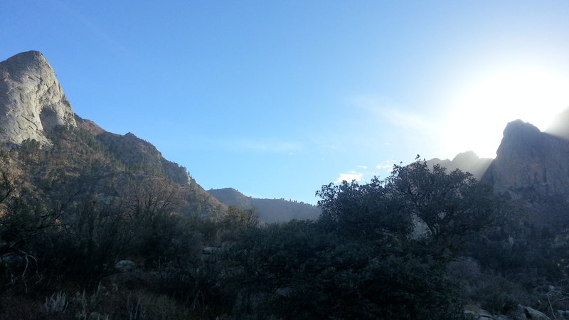 Rock Climbing Photo: 16-Nov-2012.  Basecamp ~ 2/3 way up trail to Sugar...