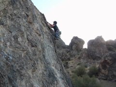 Rock Climbing Photo: Starting the Sam.