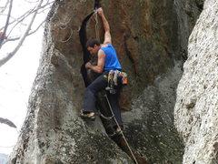 Rock Climbing Photo: Jay on the FA.