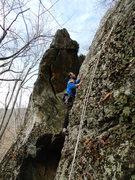 Rock Climbing Photo: LT on the FA