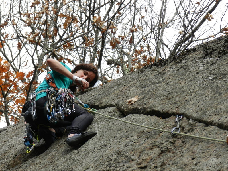 Rock Climbing Photo: Lauren Bergeron on the FA of Hair of the Dog