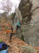 Rock Climbing Photo: Lauren and Jess at the start (Ed. Note: In this ph...