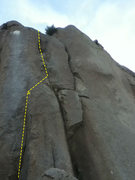 Rock Climbing Photo: Sacred Datura Direct (5.9). That's Succubus (10a) ...