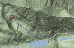 Rock Climbing Photo: A topo showing the location of crag and trailhead....
