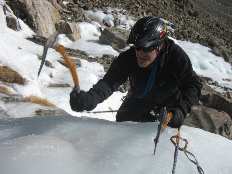 Fritz completes his first multi-pitch ice climb, 11-30-12.