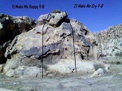 Rock Climbing Photo: Beta on Dead Man Boulder