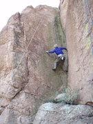 "Rock Climbing Photo: Susan heading up ""Dihedral"""