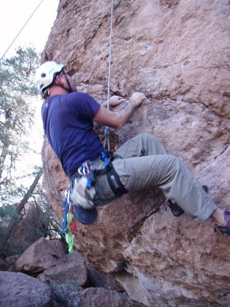 "Rock Climbing Photo: Scott on the tough start of ""Pork Junky"""