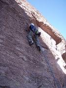 "Rock Climbing Photo: Scott heads up ""The Fixer"""