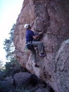 "Rock Climbing Photo: Scott at the start of ""Bibikov Arete"""