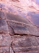Rock Climbing Photo: Stepping Stone goes up the obvious crack. The anch...