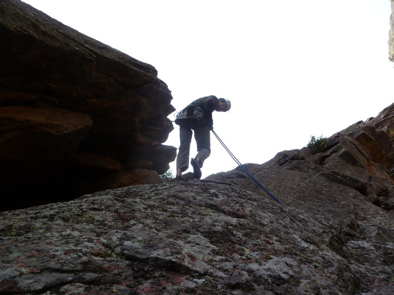 Rock Climbing Photo: On the descent.