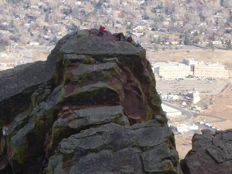 Rock Climbing Photo: Climbers on the summit.