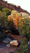 Rock Climbing Photo: Seed Block's south face.